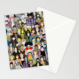 Face Mask Party Stationery Cards