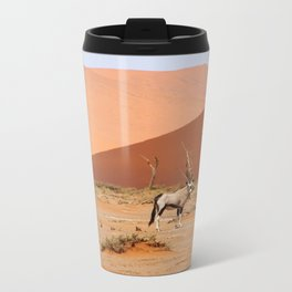 NAMIBIA ... Sossusvlei Oryx II Metal Travel Mug