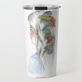 Fleurs d'aquarelle Travel Mug