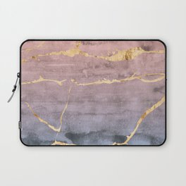 Watercolor Gradient Gold Foil Laptop Sleeve
