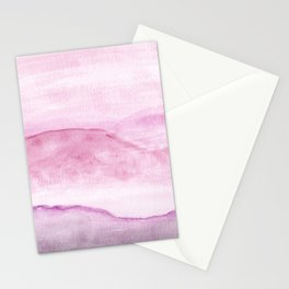 Abstract Watercolor Landscape Pink Stationery Cards