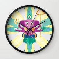 ganesh Wall Clocks featuring Ganesh by Penguinboy