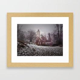 Winter at Presque Isle Lighthouse Framed Art Print