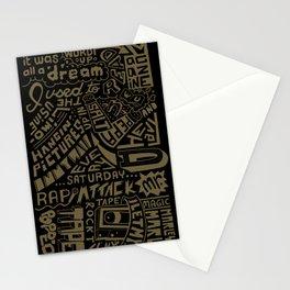 Juicy Lyrics handwritten type Stationery Cards