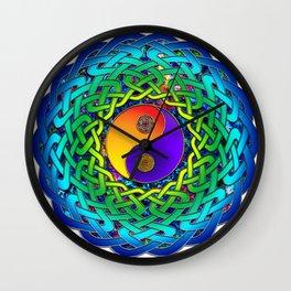 Yin Yang Celtic Mandala Wall Clock