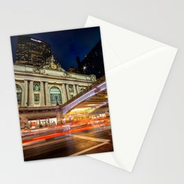 Rainy night at Grand Central Terminal 2019 vertical version Stationery Cards
