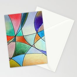 Pastel Abstract 1 Stationery Cards