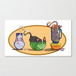 Cats In Stuff Canvas Print