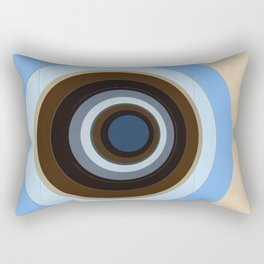 blue and brown circles Rectangular Pillow