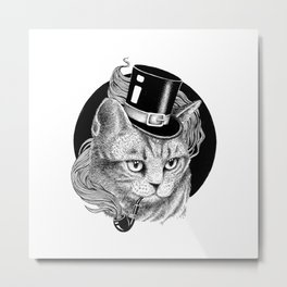 THE CAT AND THE HAT Metal Print