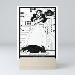 Singularity Android Art Nouveau Mini Art Print
