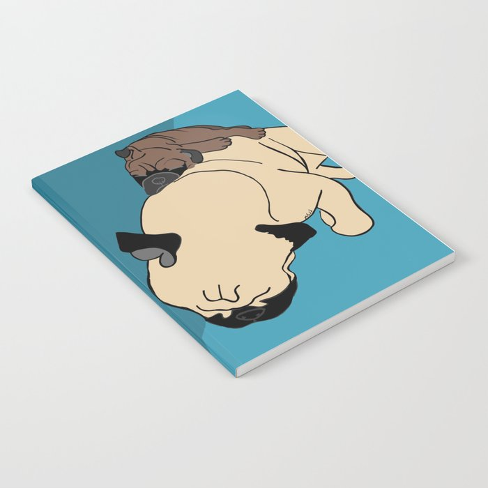 Pug and puppy napping Notebook