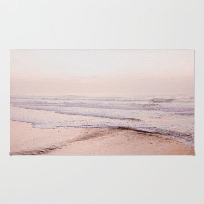 Dreamy Pink Pacific Beach Rug