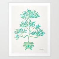 Bonsai Tree – Mint Palette Art Print