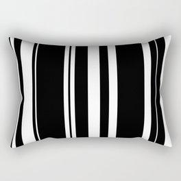 Black and white stripes 4 Rectangular Pillow