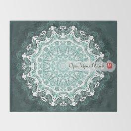 Mandala - Open Your Mind Throw Blanket
