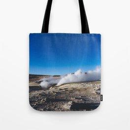 Geysers in the Atacama Desert, Bolivia Tote Bag