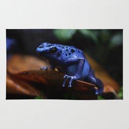 Blue Poison Dart Frog Azureus Rug
