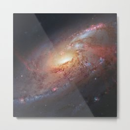 Spiral Galaxy M106 Metal Print