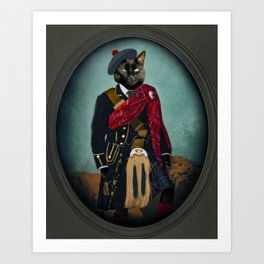 Boris the Bruce, Mouser-in-Chief Art Print