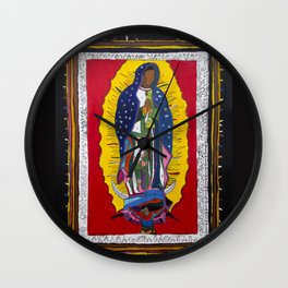 Virgen by Numbers Wall Clock
