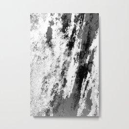 Perseverance Black & White Metal Print