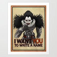 Write a name. Art Print