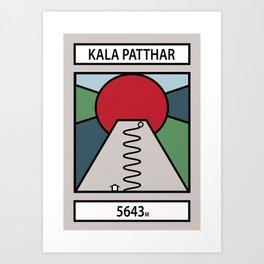 Kala Patthar Art Print