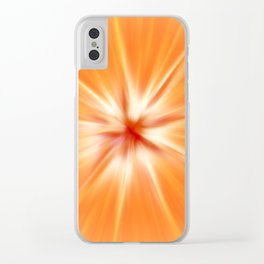 Abstract orange fruit pattern Clear iPhone Case