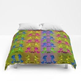 Arranged in couples Comforters