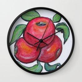 Apples In Three Wall Clock