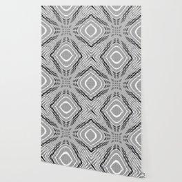 Starburst, black and white op art Wallpaper