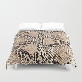 Snake skin art print Duvet Cover