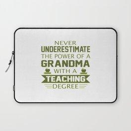 Grandma Teacher Laptop Sleeve