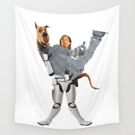 stormtrooper scooby star . wars Wall Tapestry