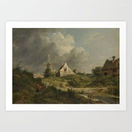 Landscape in the Gooi District of Noord-Holland, Jan Hulswit, 1807 Art Print