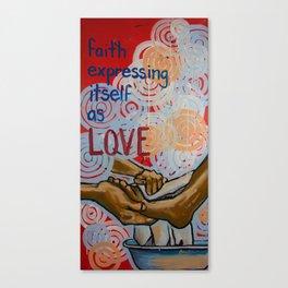 faith expressed Canvas Print