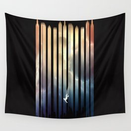 Lost In the City Wall Tapestry