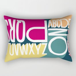 ALPHABET 1 Rectangular Pillow