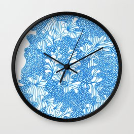 March's Blue 4 | Artline Drawing Pens Sketch Wall Clock