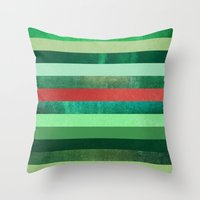 watermelon Throw Pillows featuring Watermelon by Elisabeth Fredriksson