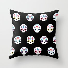 Cute sugar skulls B Throw Pillow