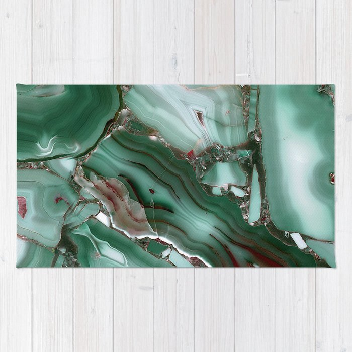 Luxury Malachite Marble Agate Rug