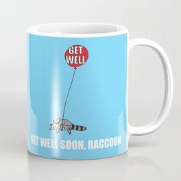 Get Well Soon, Raccoon Coffee Mug