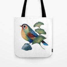 Ginkgo Bird Tote Bag