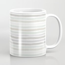 Watercolor Stripes Hues of Grey by Friztin Coffee Mug