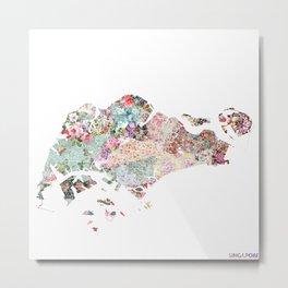 Singapore map Metal Print