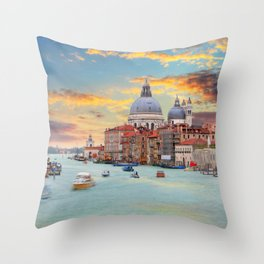Grand Canal in Venice, Italy Throw Pillow