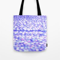 glitter Tote Bags featuring Periwinkle Glitter Sparkle by WhimsyRomance&Fun