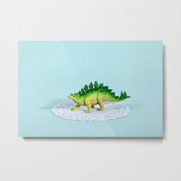 Doily Stegosaurus Metal Print